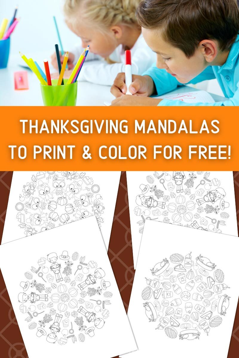 Thanksgiving Mandalas to Print & Color for Free