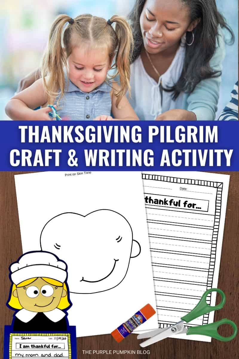 Thanksgiving-Pilgrim-Girl-Craft-Writing-Activity