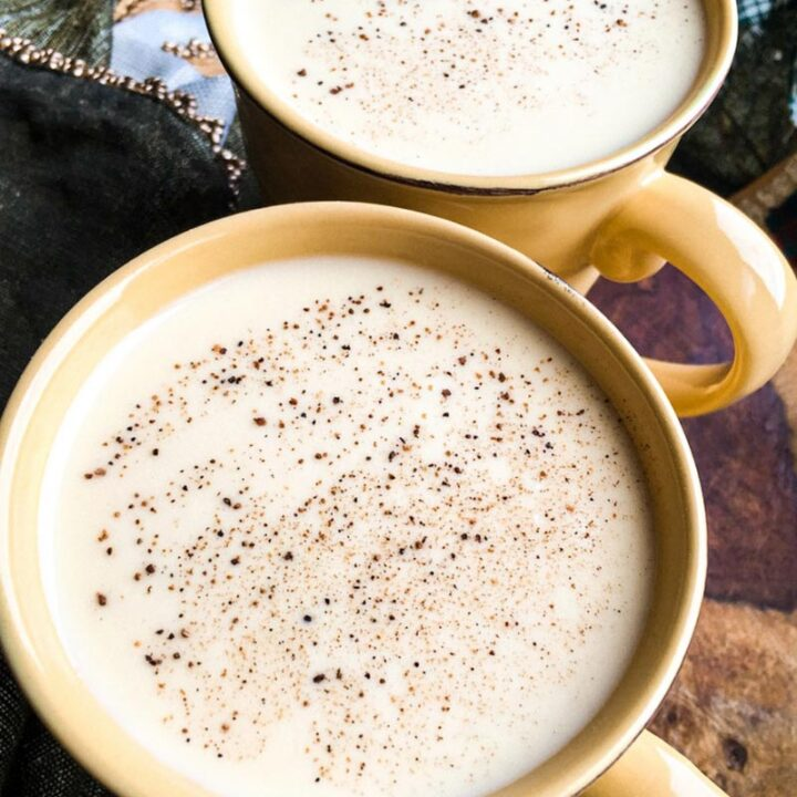 Traditional Eggnog But Without Raw Eggs!