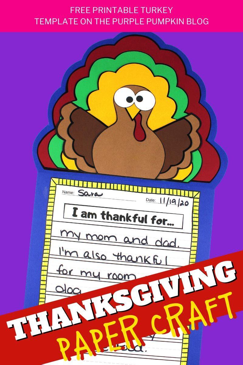 Turkey Thanksgiving Paper Craft