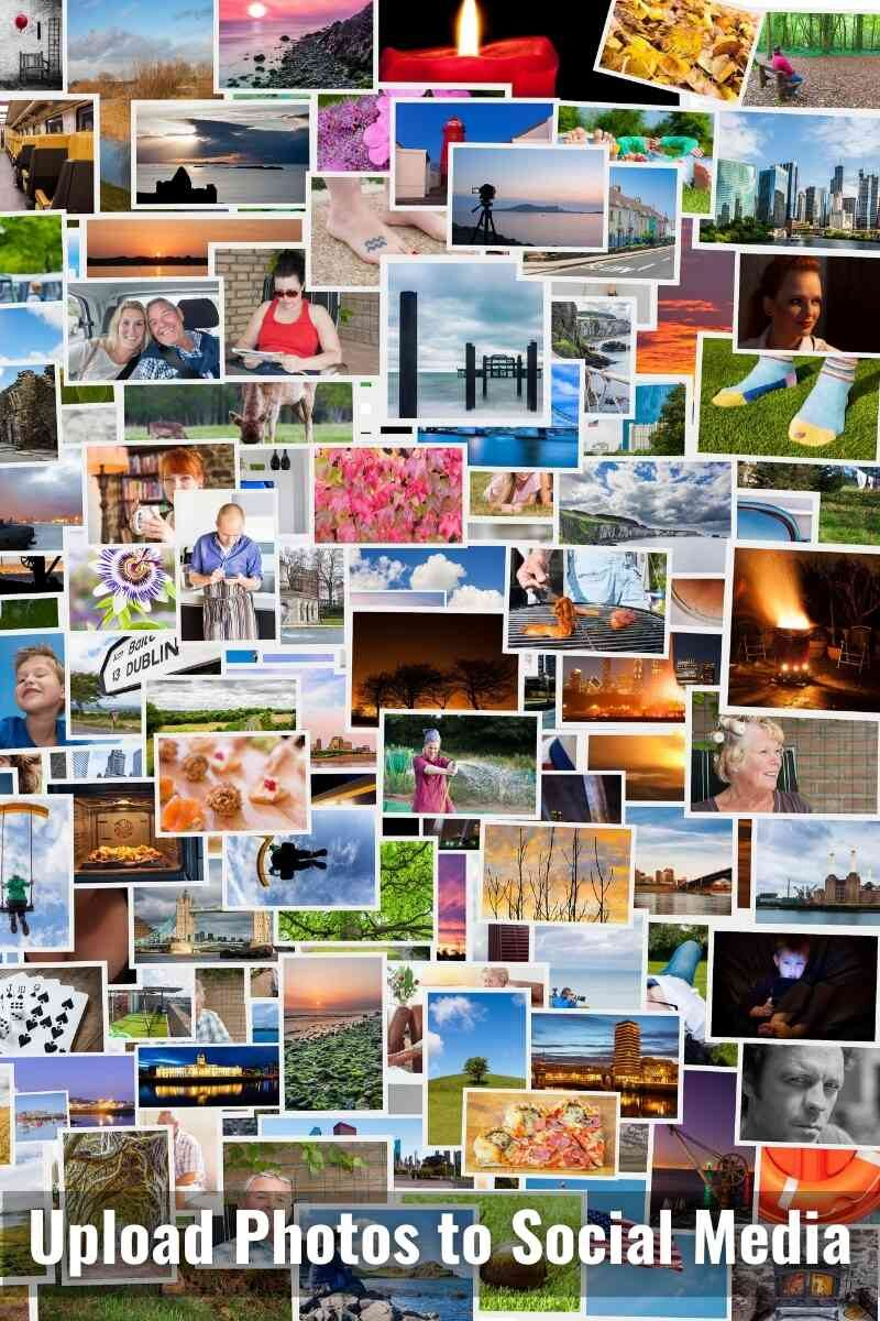 A collage of many photographs.
