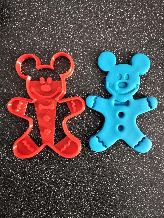 3D Printed MICKEY Gingerbread man Cookie Cutter | Etsy