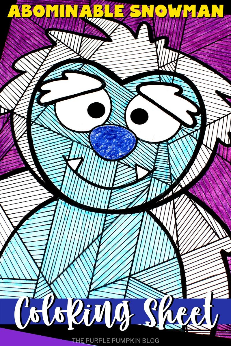 Abominable Snowman Coloring Sheet