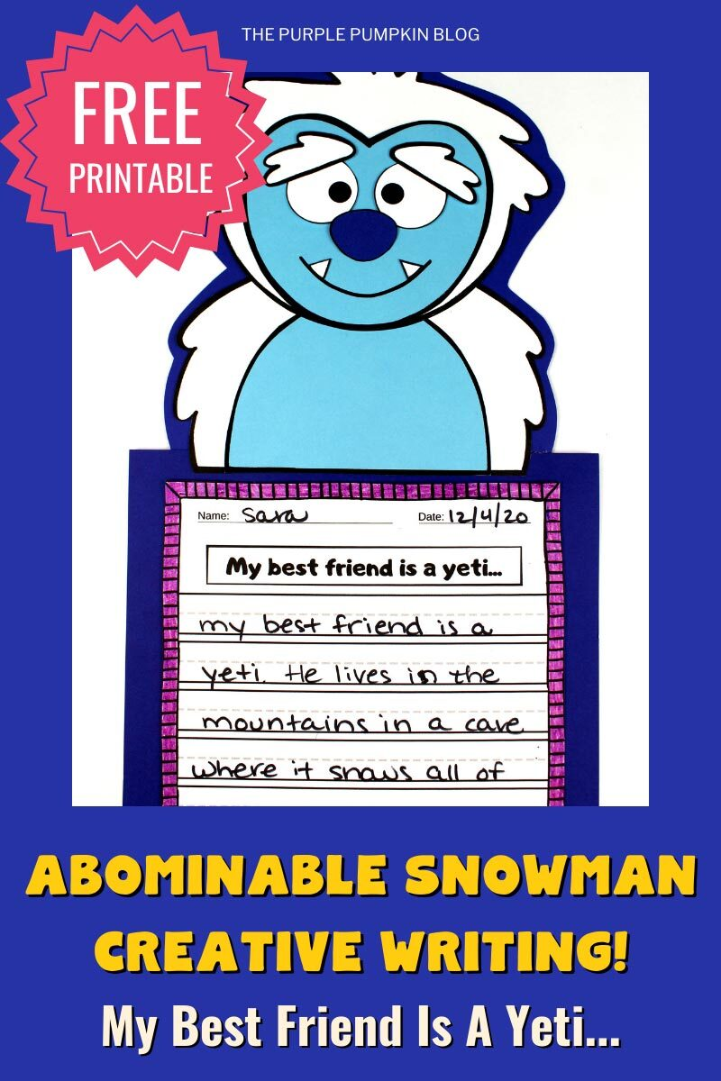 Abominable Snowman Creative Writing Project