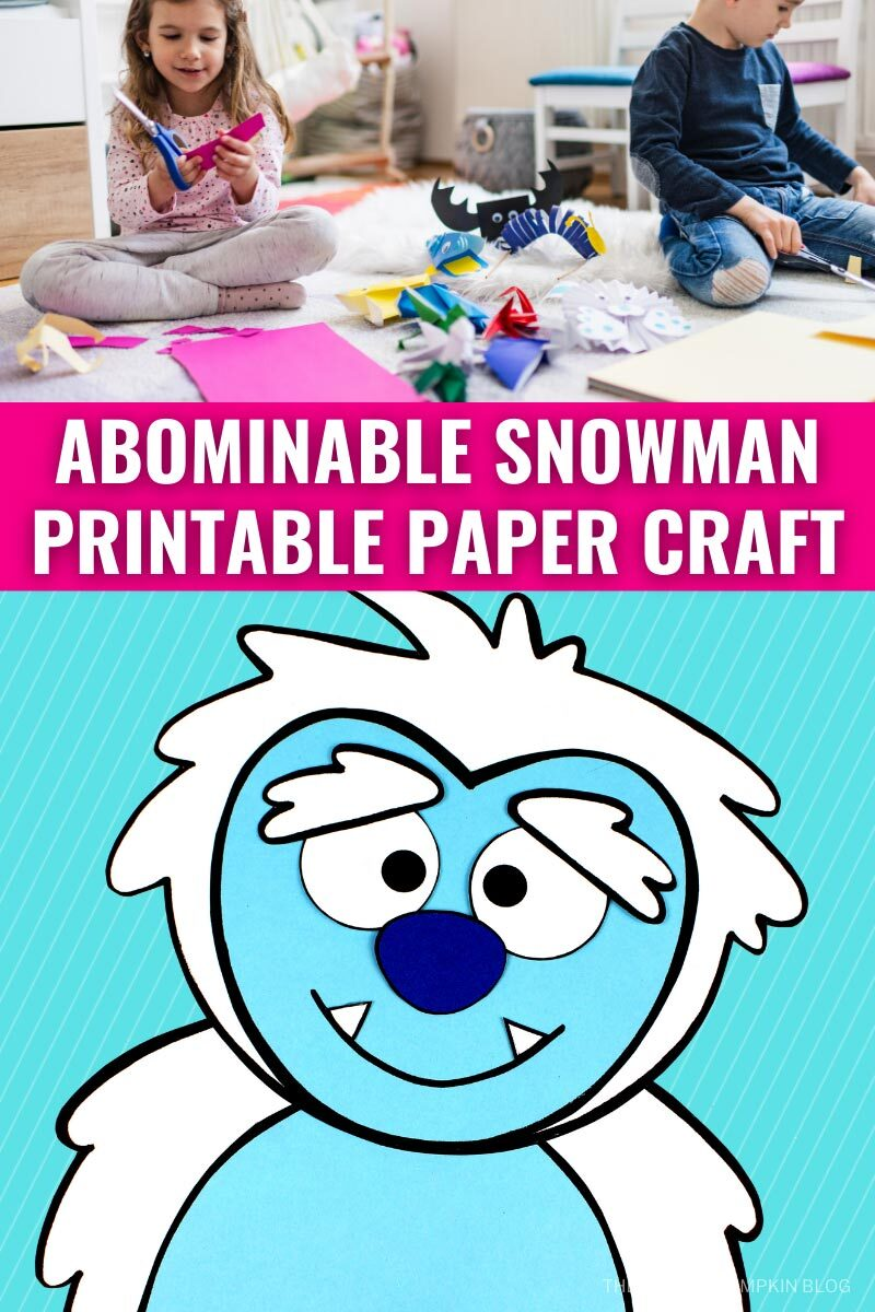 Abominable Snowman Printable Paper Craft