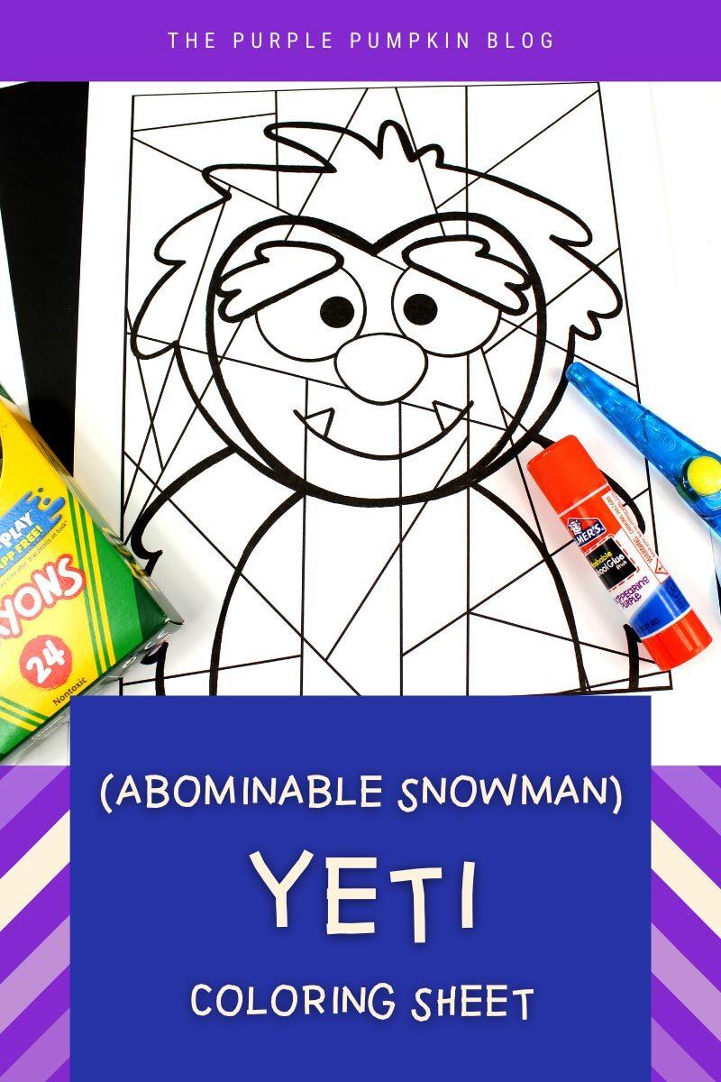 Abominable Snowman Yeti Coloring Sheet