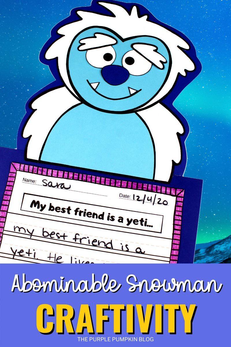 Abominable Snowman Yeti Craftivity