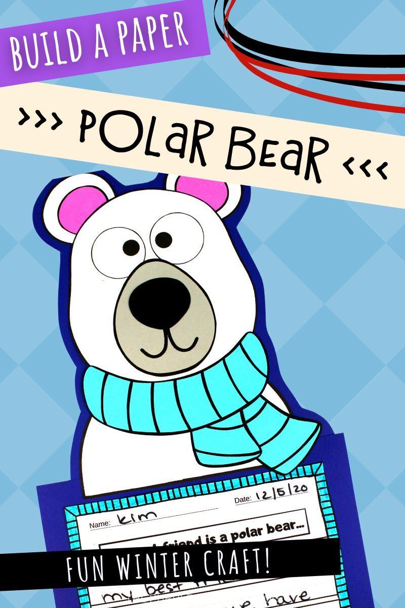 Build a Paper Polar Bear Winter Craft