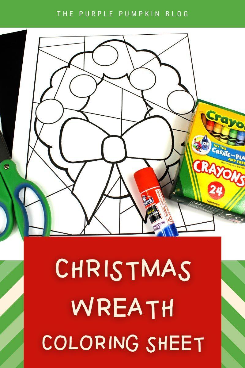 Christmas Wreath Coloring Sheet
