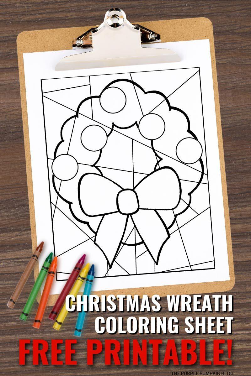 Christmas Wreath Coloring Sheet Free Printable