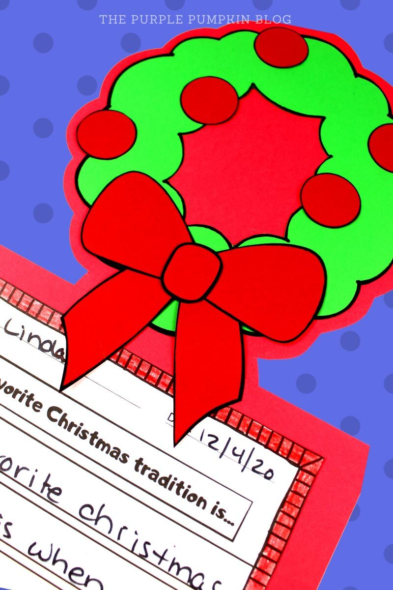Christmas Wreath Craft & Writing Project