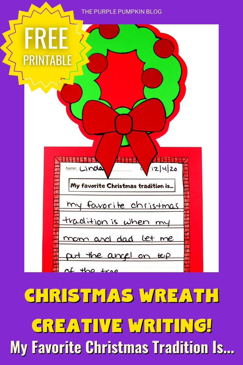 Christmas Wreath Creative Writing Project