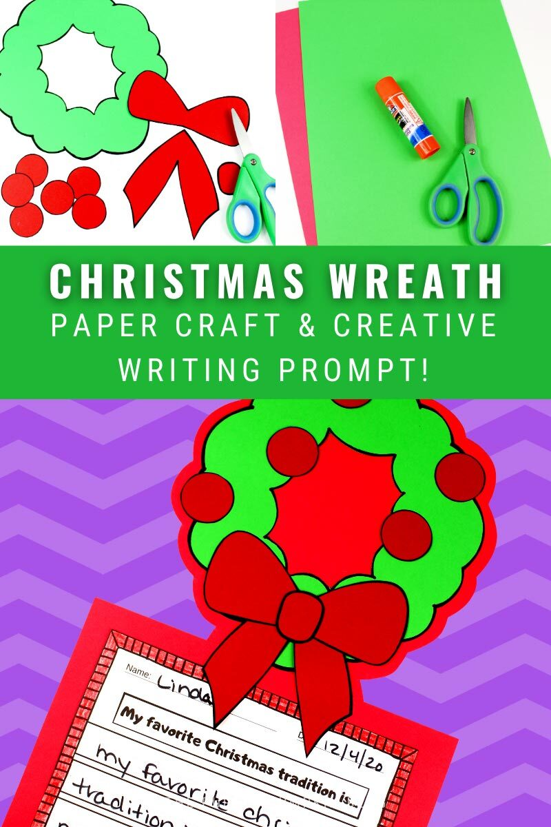 Christmas Wreath Paper Craft & Creative Writing Prompt