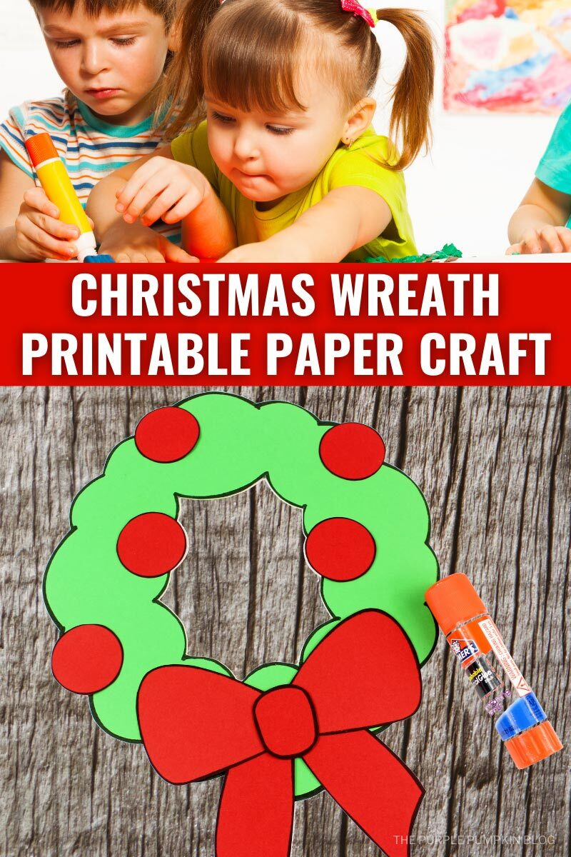 Christmas Wreath Printable Paper Craft