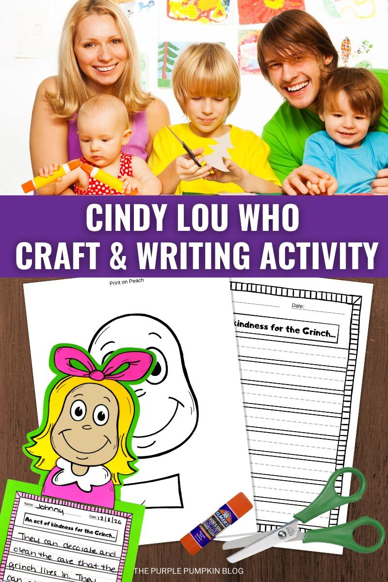 Cindy Lou Who Craft & Writing Activity