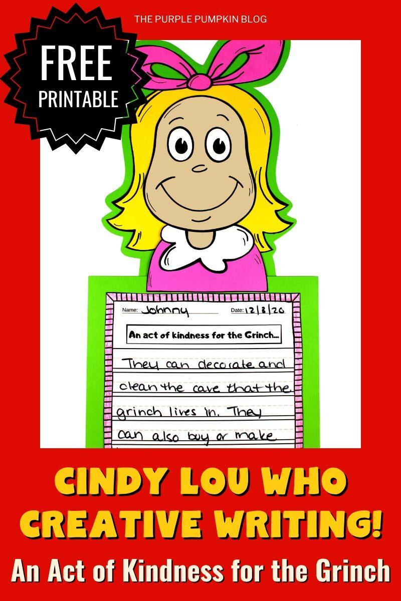 Cindy Lou Who Creative Writing Free Printable
