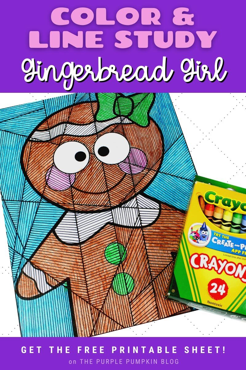 Color & Line Study Gingerbread Girl Sheet