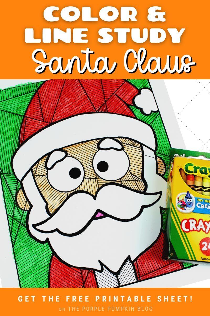 Color & Line Study Santa Claus