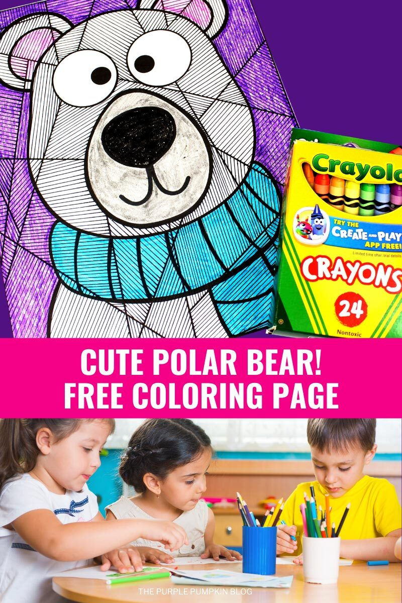 Cute Polar Bear Free Coloring Page