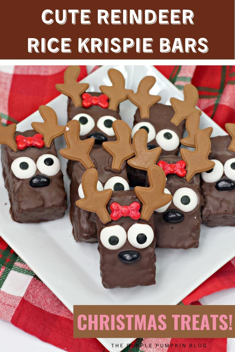 Cute Reindeer Rice Krispies Bars