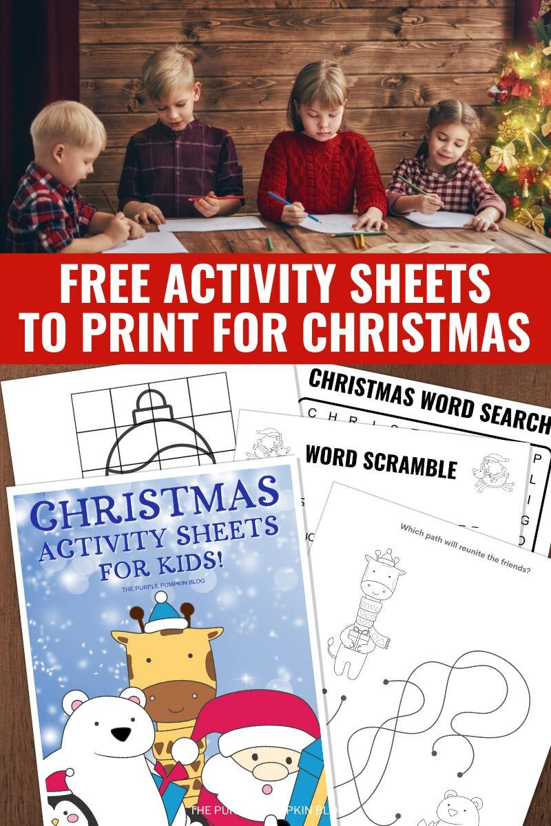 Free Activity Sheets to Print for Christmas