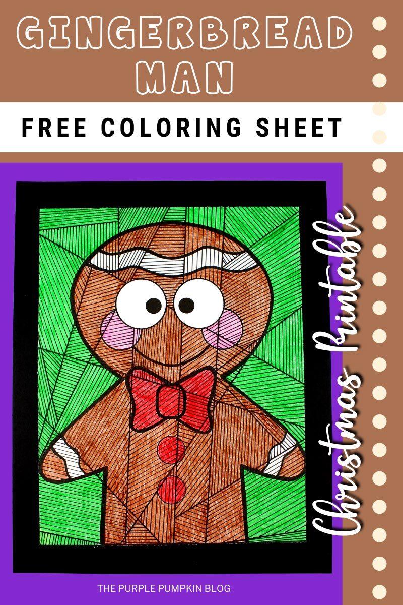 Free Gingerbread Man Coloring Sheet Christmas Printable