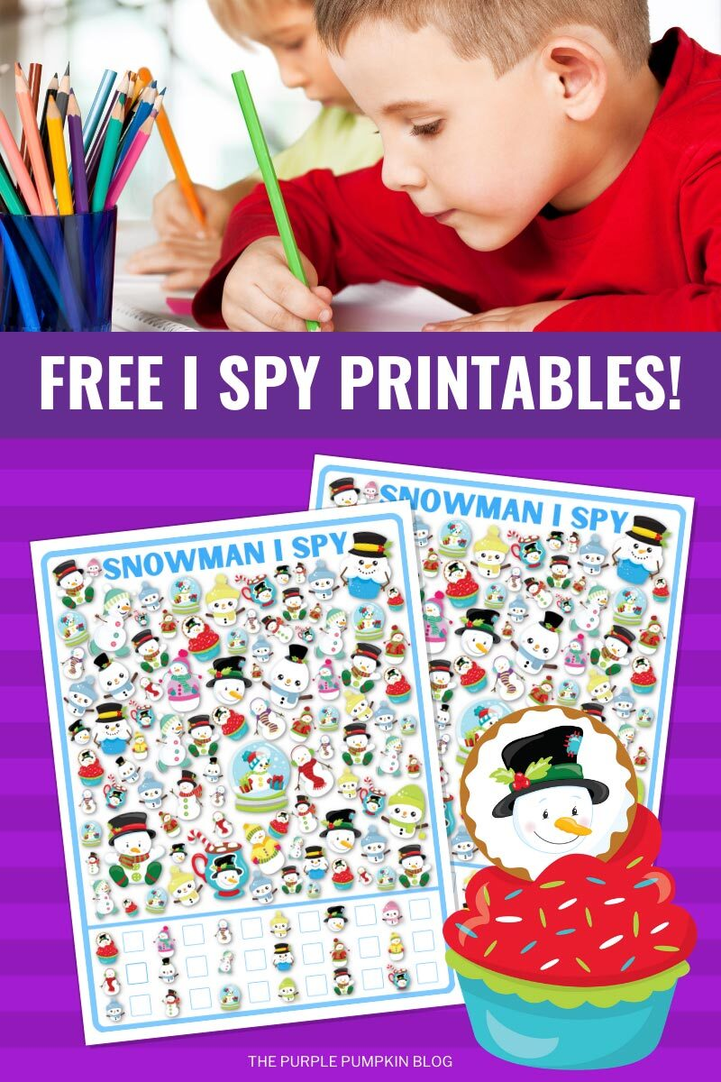 Free I Spy Printables for Winter