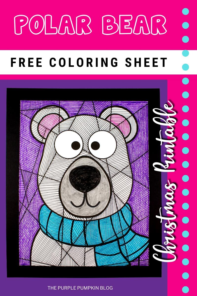 Free Polar Bear Coloring Sheet Christmas Printable