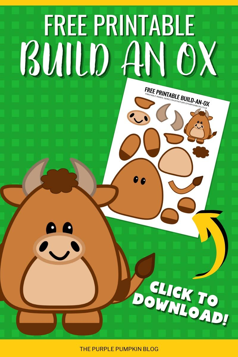 Free Printable Build an Ox to Download