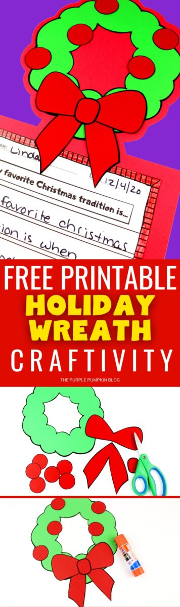 Free Printable Craftivity - Holiday Wreath