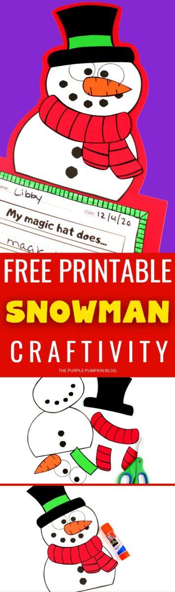 Free Printable Craftivity - Snowman