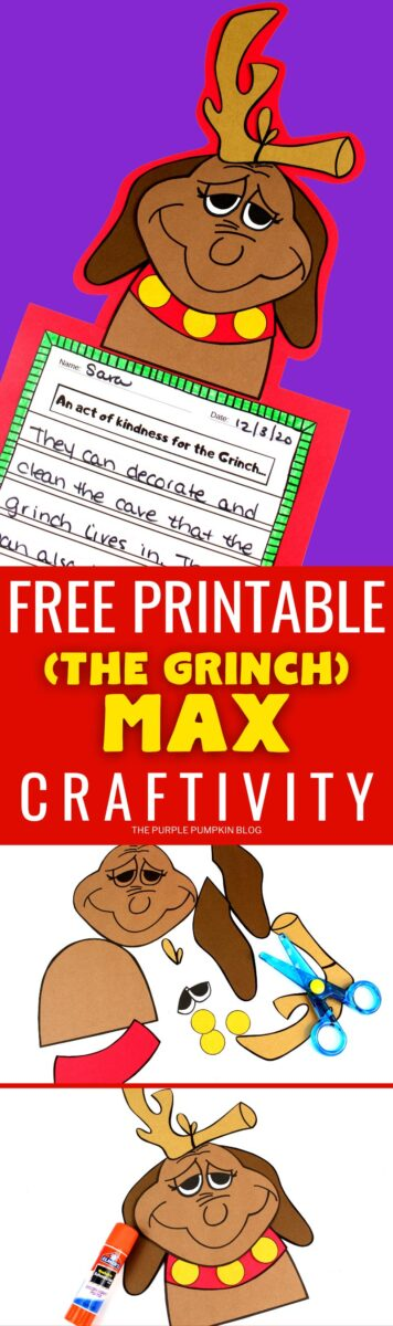 Free Printable Craftivity - The Grinch Max