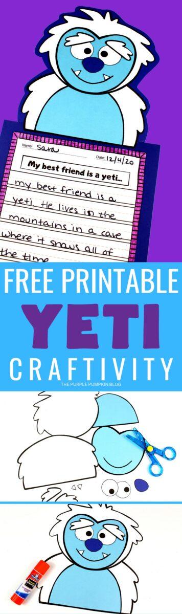 Free Printable Craftivity - Yeti
