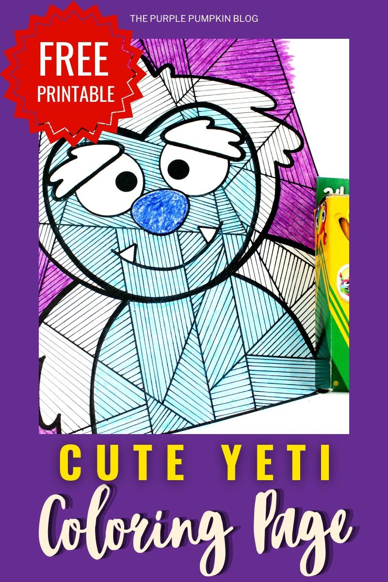 Free Printable Cute Yeti Coloring Page