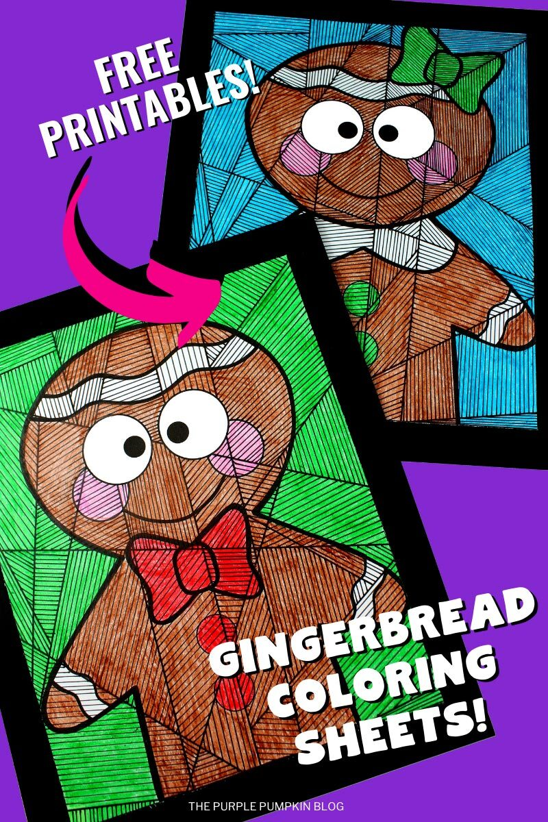 Free Printable Gingerbread Coloring Sheets