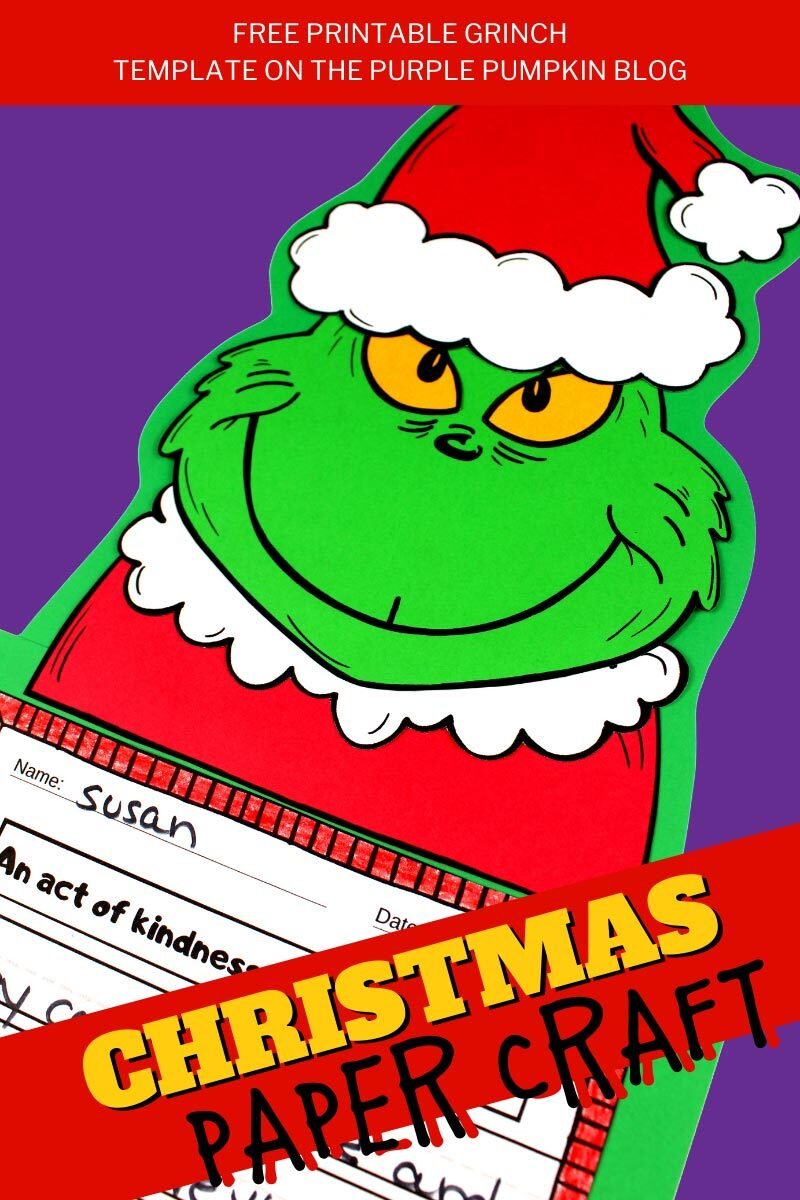 Free Printable Grinch Christmas Paper Craft