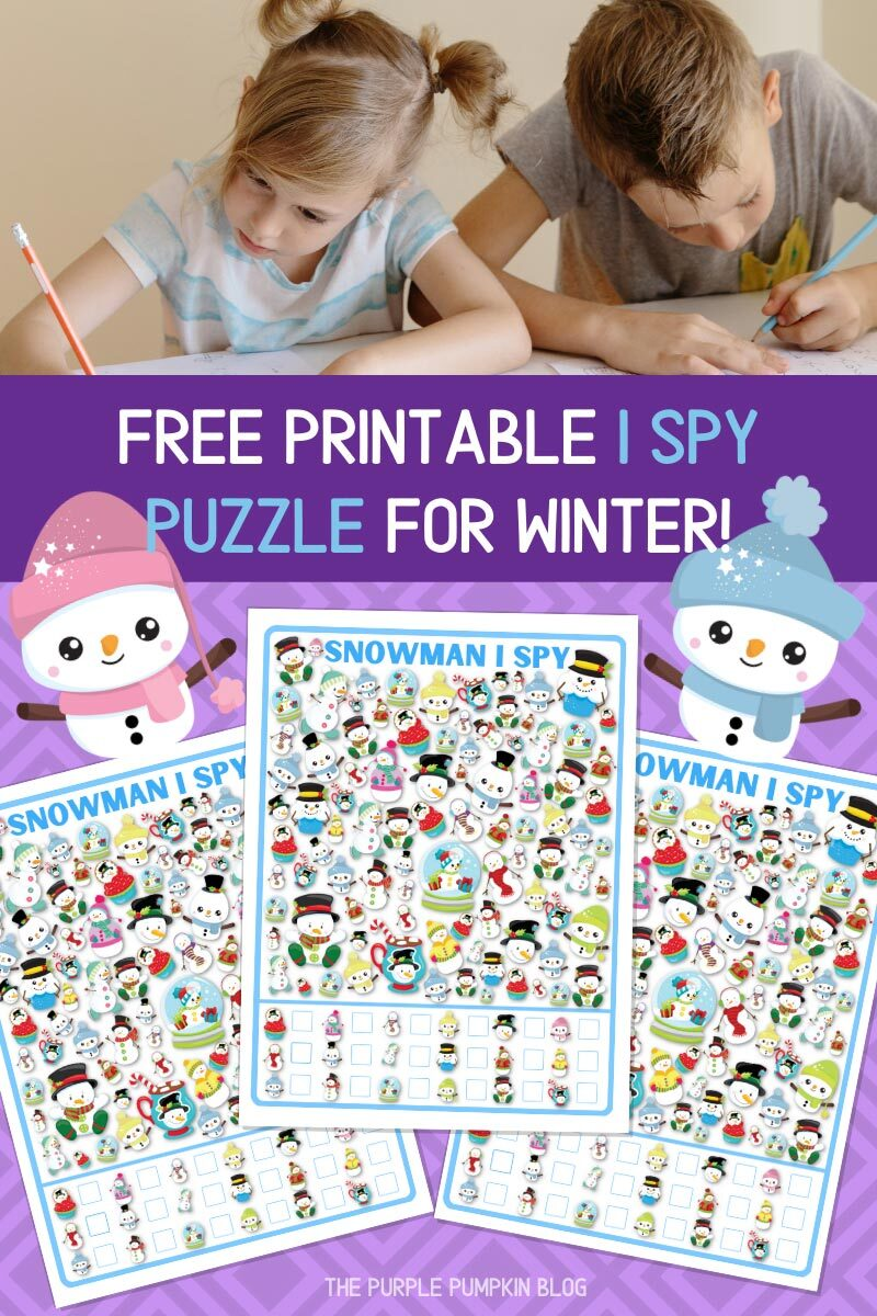 Free Printable I Spy Puzzle for Winter!