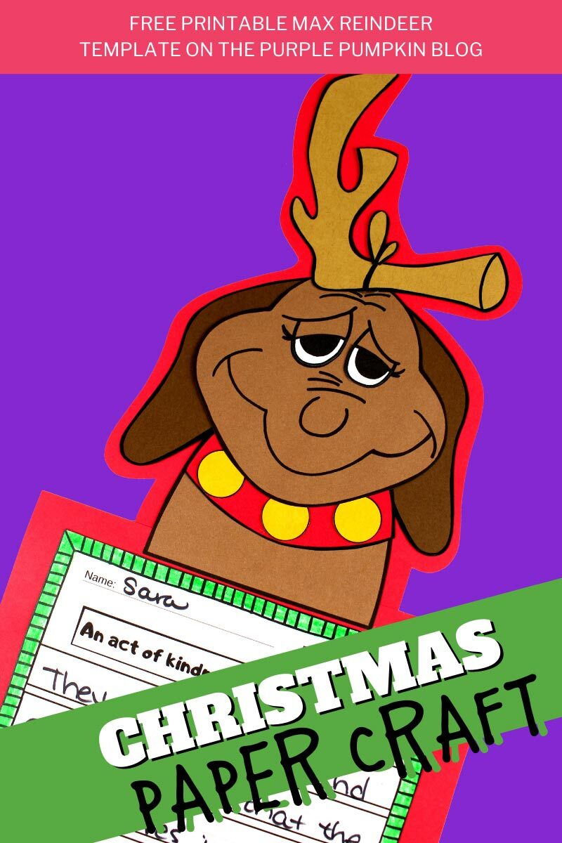 Free Printable Max the Dog Christmas Paper Craft