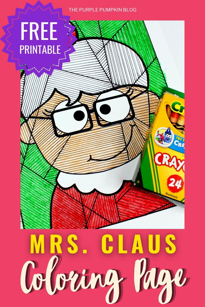 Free Printable Mrs Claus Coloring Page