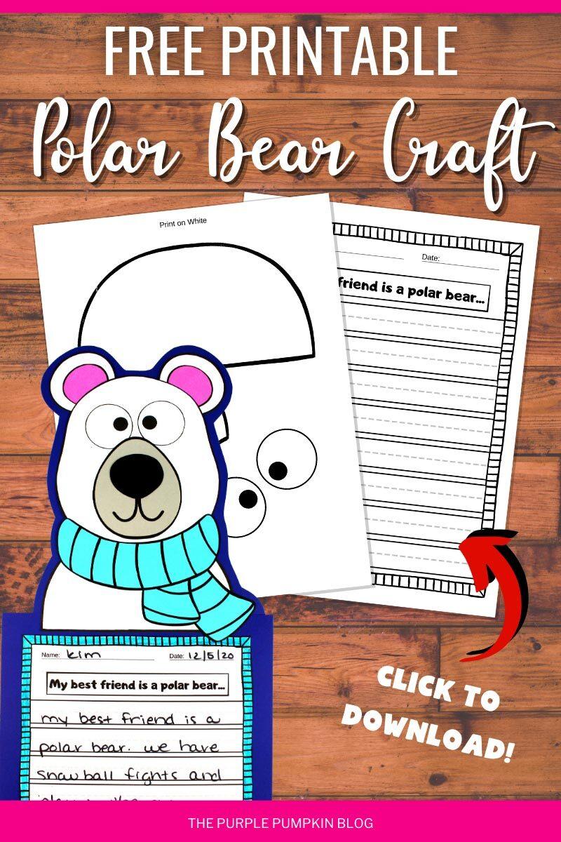 Free Printable Polar Bear Craft to Download