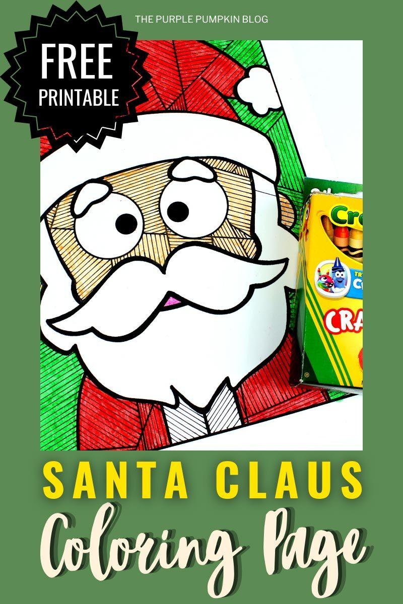 Free Printable Santa Claus Coloring Page