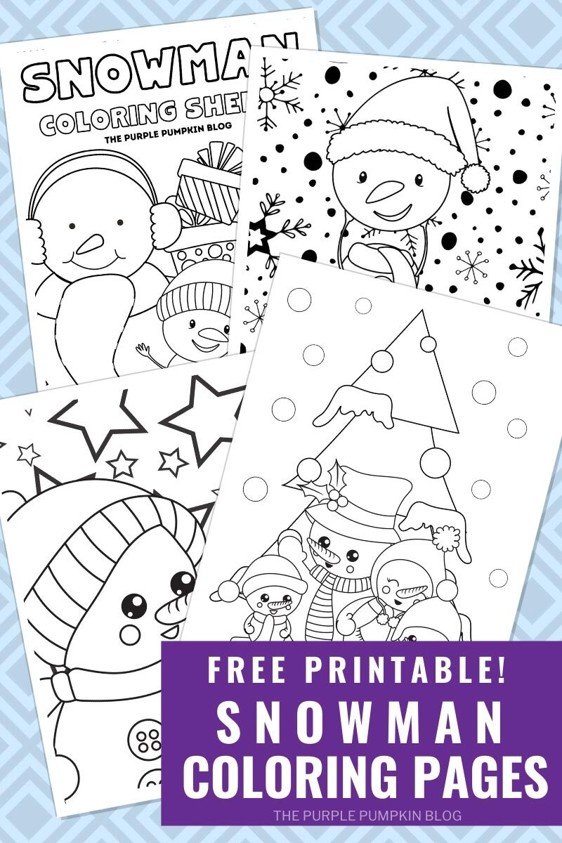 Free Printable Snowman Coloring Pages To Print at Home