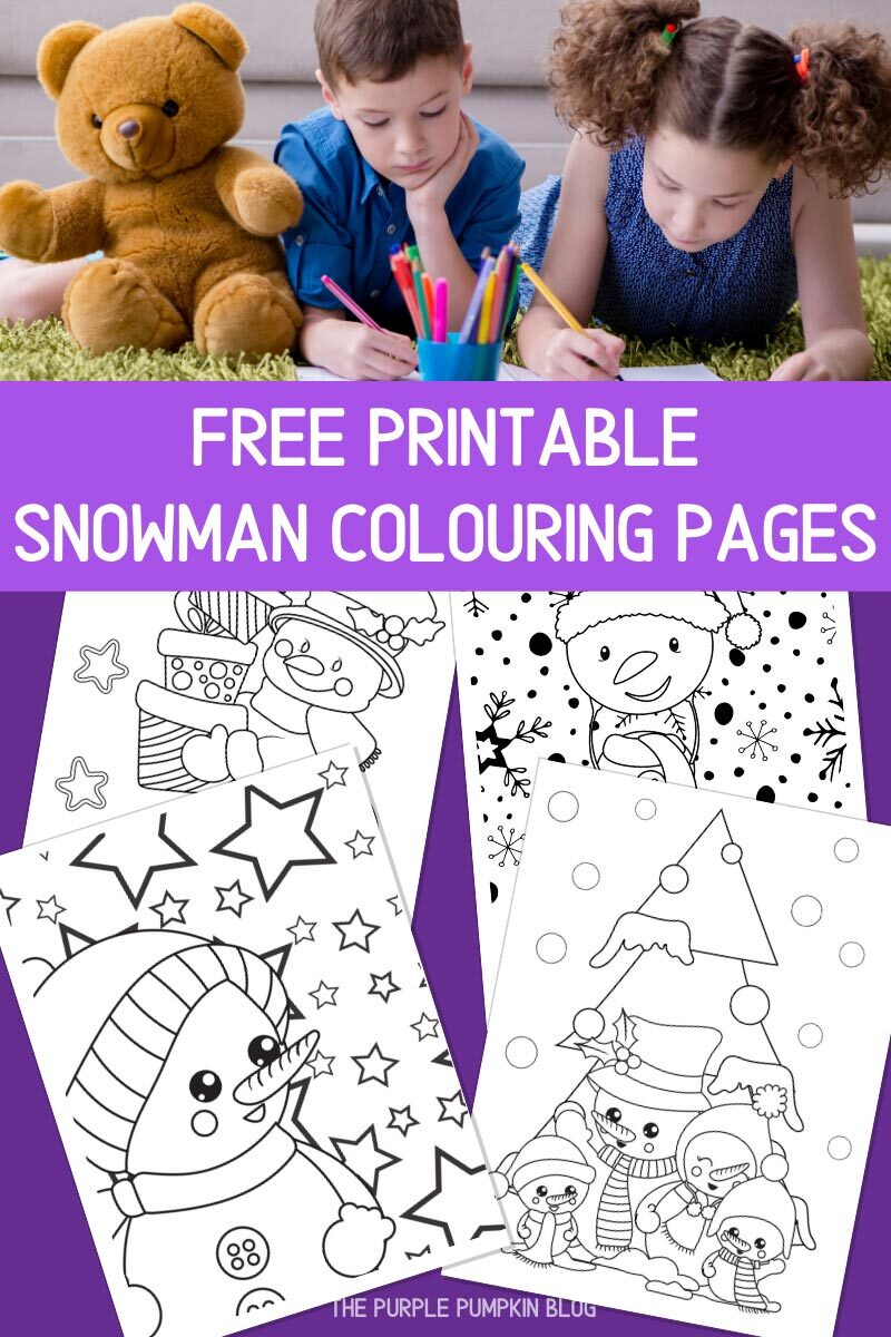 Free Printable Snowman Colouring Pages