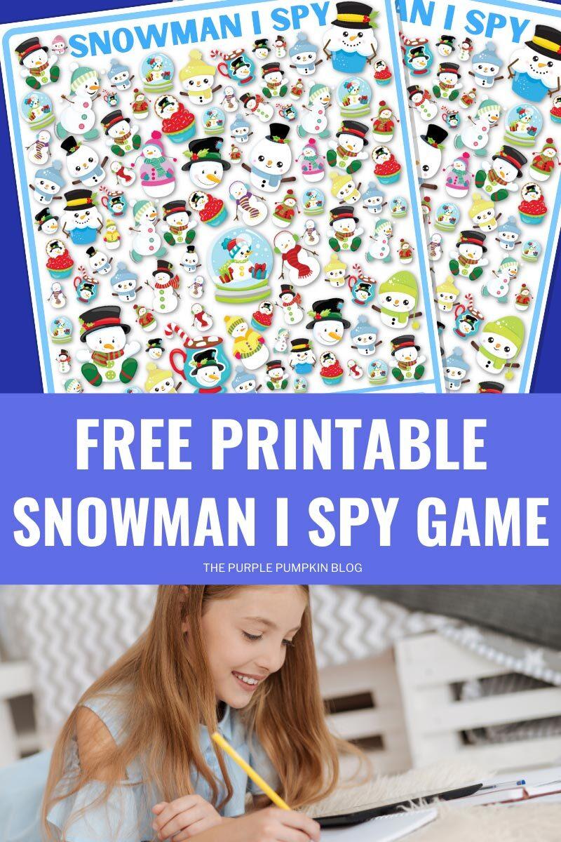 Free Printable Snowman I Spy Game Sheet