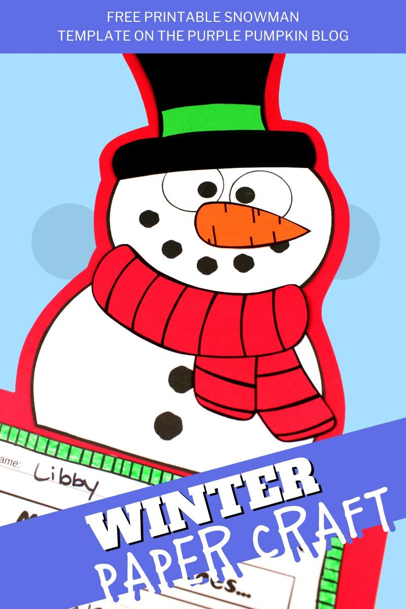 Free Printable Snowman Template Winter Paper Craft