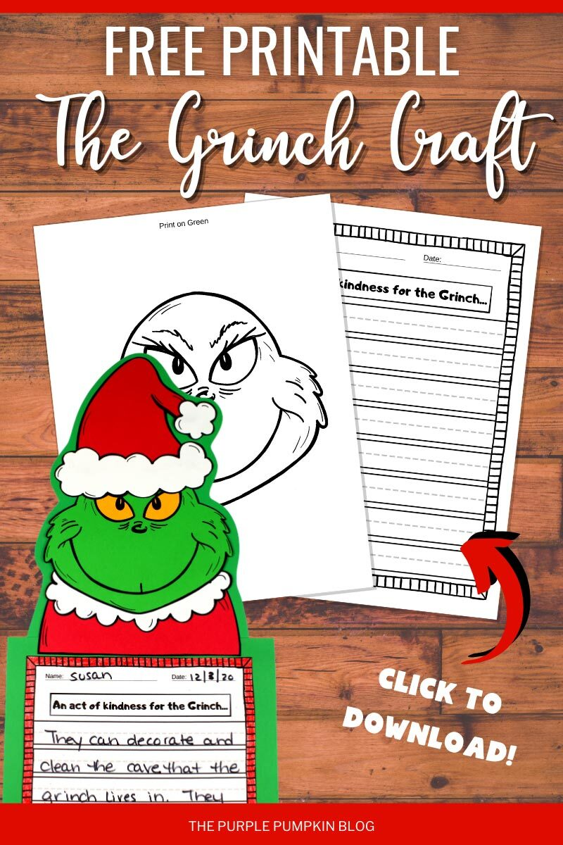 Free Printable The Grinch Craft to Download