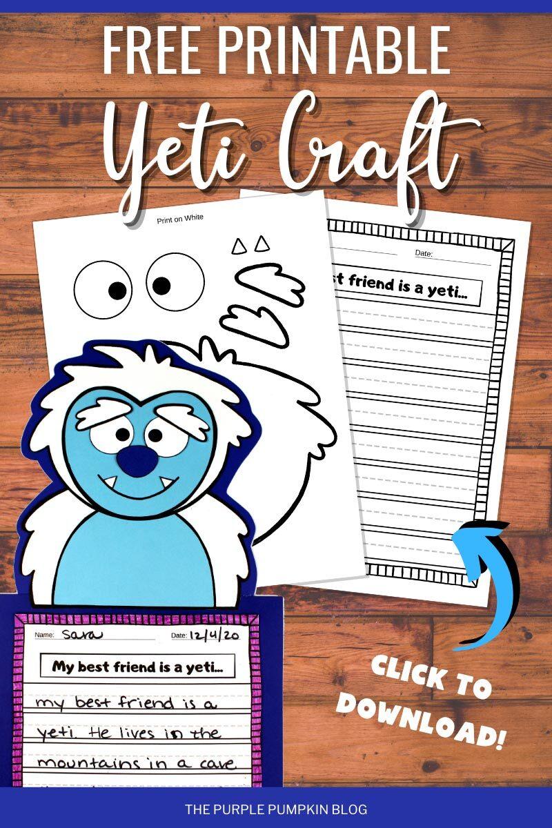 Free Printable Yeti Craft to Download