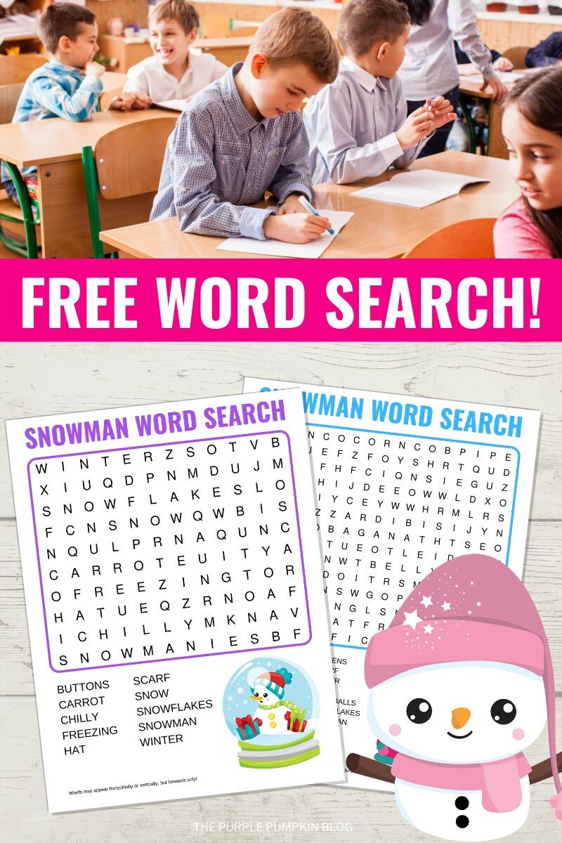 Free Word Search Printables