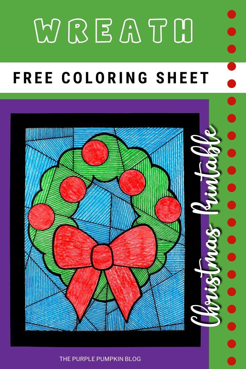 Free Wreath Coloring Sheet - Christmas Printable