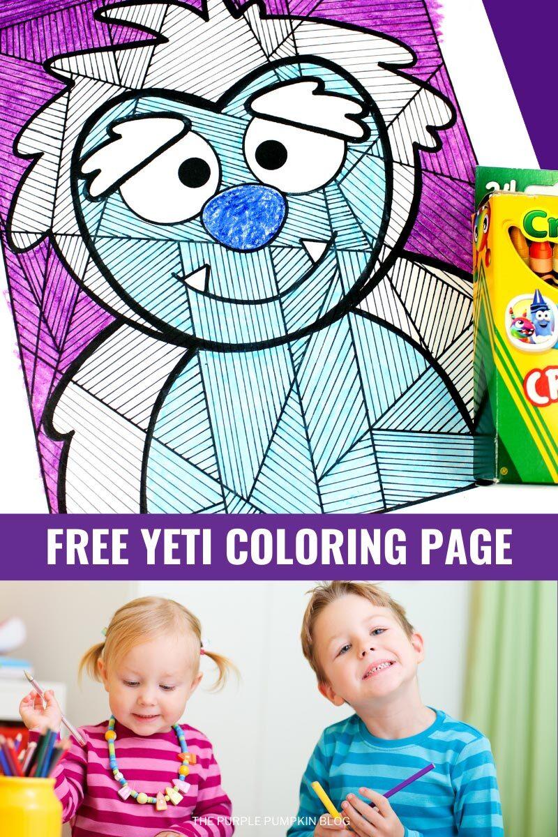 Free Yeti Coloring Page